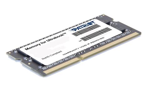 Ram 4gb Patriot pcland patriot 4gb ddr3 1600mhz ultrabook sodimm
