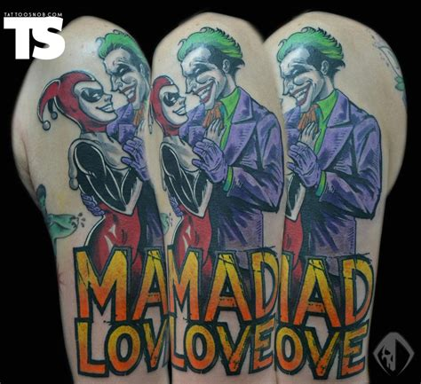 mad love tattoo quot mad quot joker awesome tattoos ink tattoos