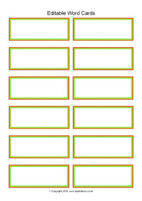 flashcards template editable primary classroom flash cards sparklebox