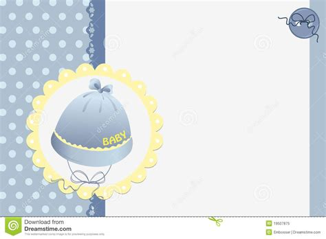 Baby Card Template by Template For Baby S Card Royalty Free Stock Photo