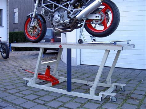 Mc P S Motorradwerkstatt by Bauanleitung Motorrad Hebeb 252 Hne 220cm X 80cm 400kg Last