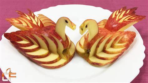 fruit garnish how to make apple swan garnish fruit carving for
