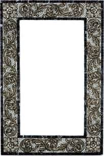 how to frame a bathroom mirror with mosaic tiles mosaic mirror frame with metal inlay mediterranean
