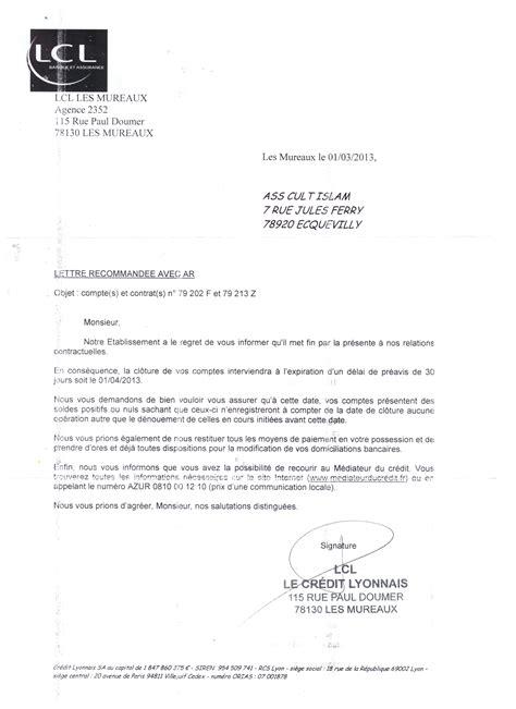 Exemple De Lettre De Demande De Relevé Bancaire Lettre Fermeture Compte Bancaire Lettre De Motivation 2017