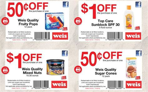weis printable grocery coupons new weis facebook coupons ship saves