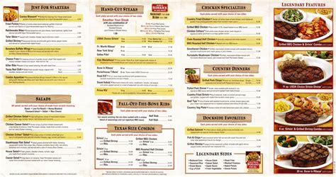 texas road house menu texas roadhouse menu pdf