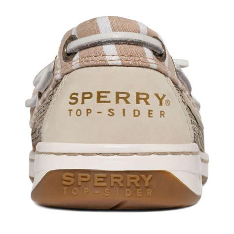 womens sperry top sider angelfish eyelet boat shoe sperry top sider womens angelfish boat shoes in brown lyst