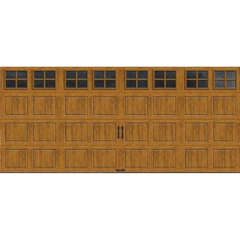 clopay gallery collection 16 ft x 7 ft 18 4 r value