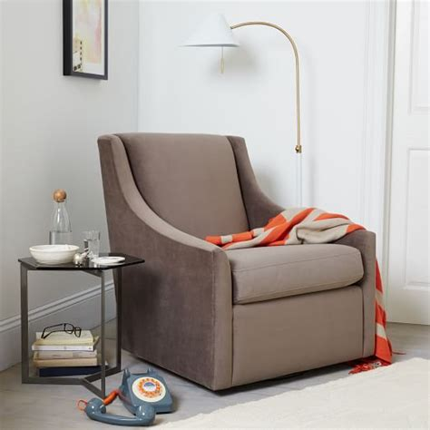 sweep armchair sweep swivel armchair west elm