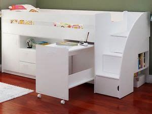 Mid Sleeper Storage Beds by Mid Sleeper Cabin Bed With Mattress Storage And Desk