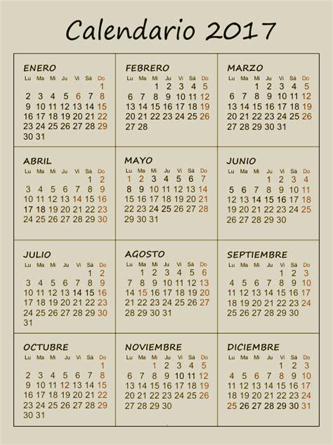Calendarios Gratis 2017 Para Imprimir Calendario 2017 Gratis Para Imprimir 2017 Calendar