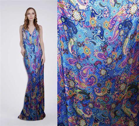 aliexpress com buy blue paisley 100 pure silk printed