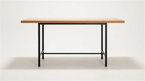 eq3 kendall dining table solid oak top grid furnishings