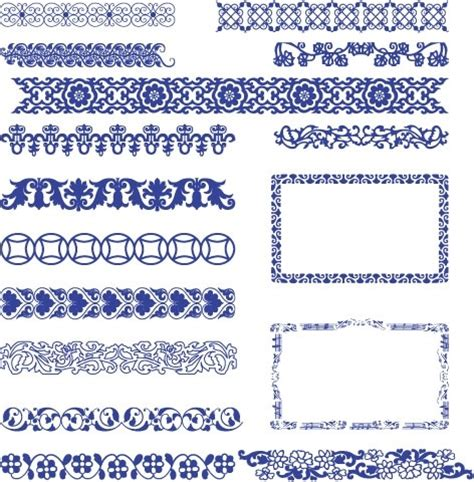 chinese pattern border ai classical style border vector free vector in adobe
