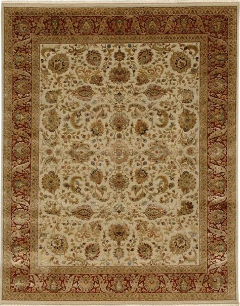 Area Rugs 2x3 Knotted Pattern Wool Silk Ivory Area Rug 2x3 Midcentury Area Rugs