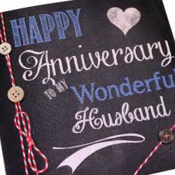 handmade s chalk effect anniversary card husband happy anniversary to my wonderful