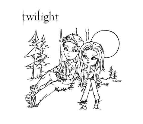 Twilight Coloring Sheets Twilight Coloring Pages