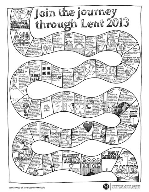 journey through lent coloring page lent pinterest