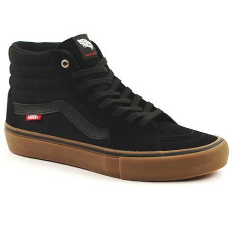 Vans Sk8 Black Gum Sole Waffle Icc vans sk8 hi pro blk gum forty two skateboard shop