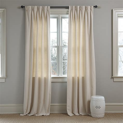 double pleat curtains set of 2 double pinch pleat 48inw custom panels ballard
