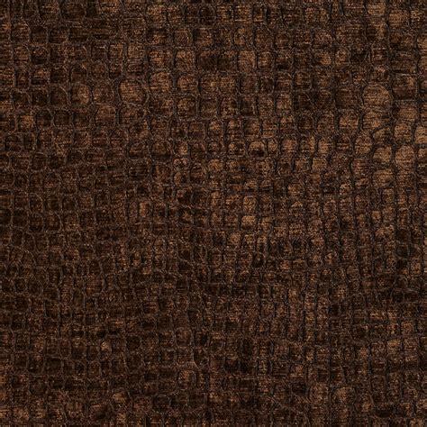 Upholstery Velvet Fabric By The Yard by Brown Alligator Print Shiny Woven Velvet Upholstery Fabric