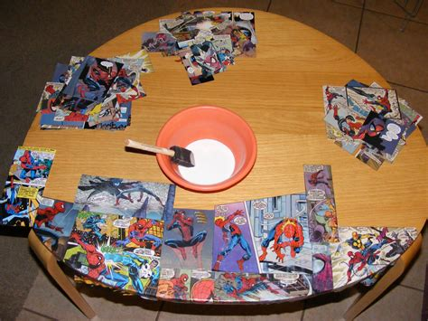 decoupage with comic books