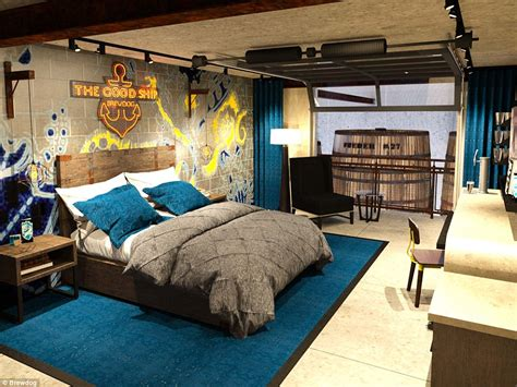 Theme Hotel Ohio | brewdog hotel to open in ohio featuring ale tap in bedroom