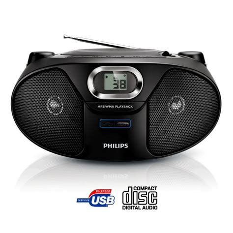 radio cd cassette philips az385 lecteur cd radio portable radio cd