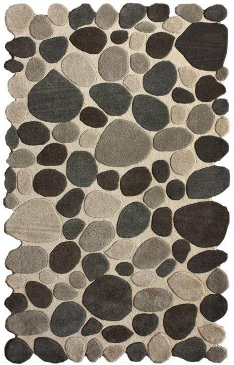 pebble area rugs serendipitycontemporary handmade wool pebbles cobblestone