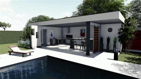 Pool House En by Plan De Jardin 3d Piscine Pool House