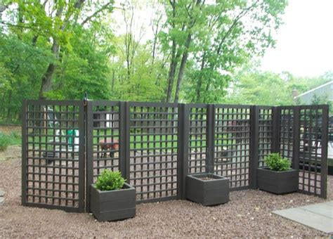 Portable Trellis Screen Planters And Privacy Screen Patio