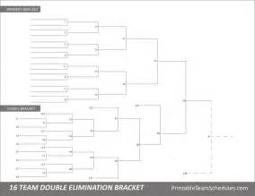 16 team bracket template tournament bracket free printable 16 team