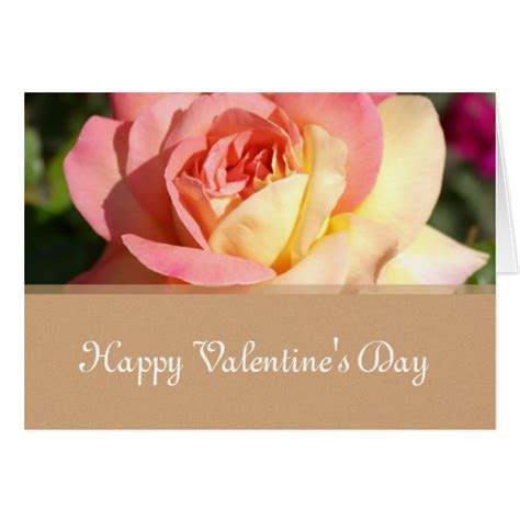 yellow roses valentines day pink yellow flowers happy s day card zazzle