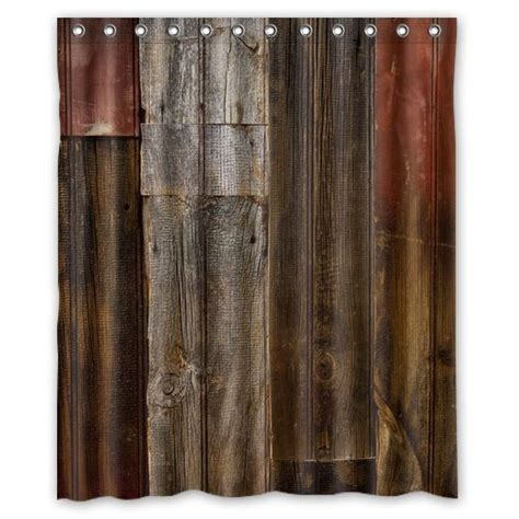 rustic curtain 3d old wood rustic fabric bath shower curtain bathroom