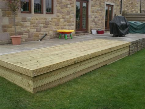 How To Fit Sleepers In Garden by Sheffield Landscaper Gallery Patios Decking Ponds Fencing