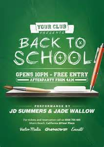 back to school poster template back to school flyer on behance