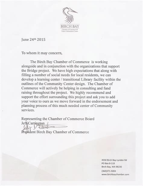 Endorsement Letter For Restaurant Endorsements Sponsors Thebridgebirchbay