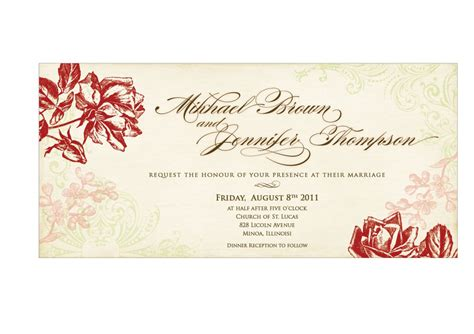 married card template using wedding invitation templates wedding and bridal