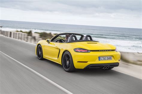 yellow porsche boxster 2017 porsche 718 boxster review gtspirit
