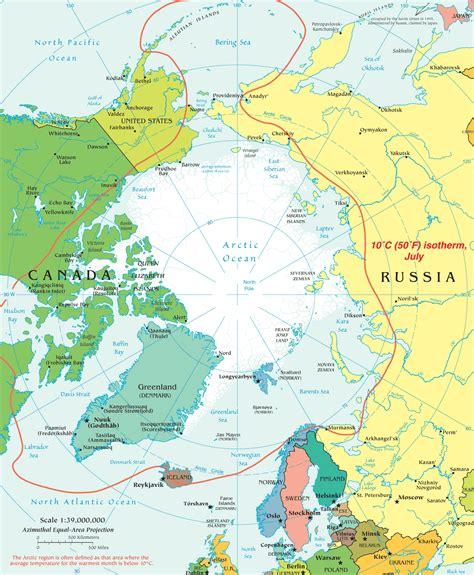 arctic map map arctic