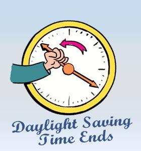 daylight saving time ends: calendar, history, events