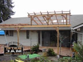 Attaching Pergola To Roof by Roof Pergola Attached To Roof Home Design Interior Decor