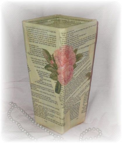 Decoupage With Book Pages - crafting with book pages s creative designs
