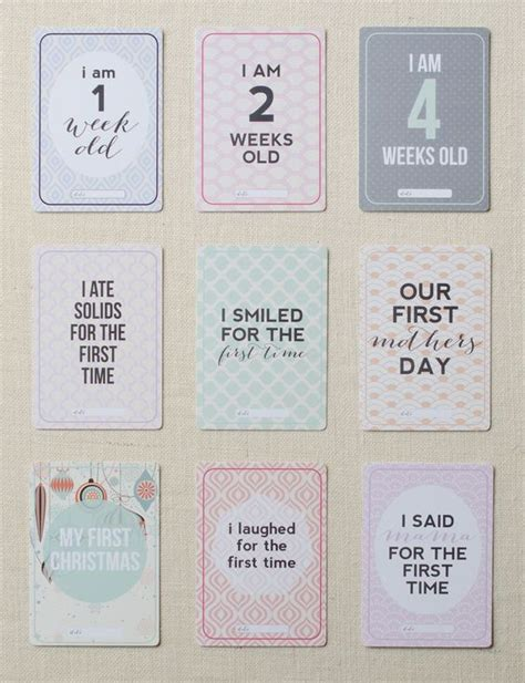 Milestone Pregnancy Photo Cards printz baby milestone cards preview i prints