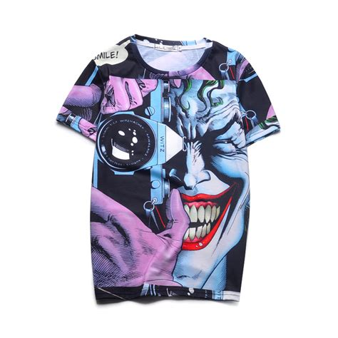 New Kaos 3d Joker 12 top quality printed 3d t shirts novelty joker design summer cool tops clothes