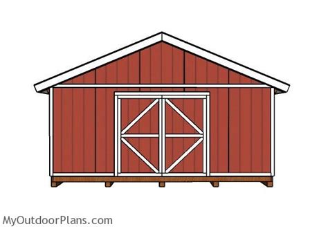 20x20 shed doors and trims plans myoutdoorplans free woodworking plans and projects diy
