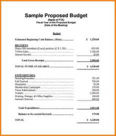 Proposed Budget Template 7 Budget Proposal Format Proposal Template 2017