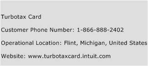 phone number to turbotax turbotax card customer service number toll free phone number of turbotax card