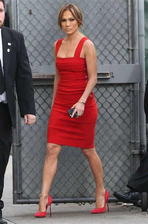 Jenifer Dress in dress arriving to appear on jimmy