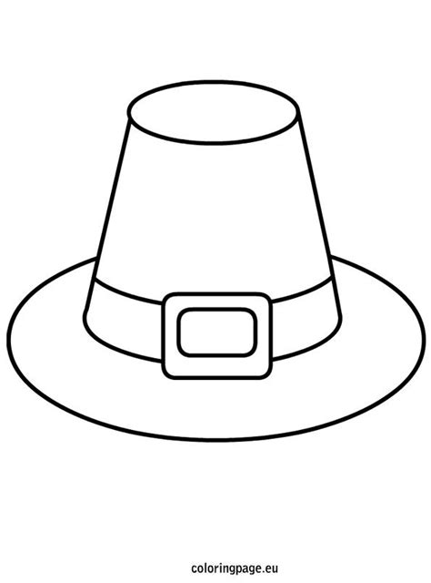 pilgrim hat coloring pages printable coloring pages